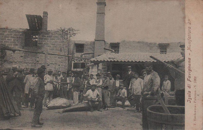 Operai dello stabilimento Florio dei primi del '900