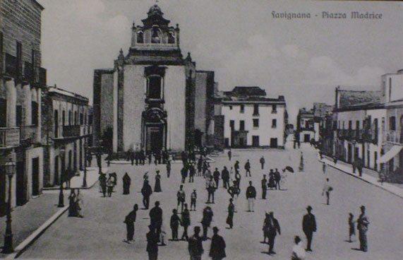 Favignana foto piazza Madrice chiesa decentrata 1914 foto antica